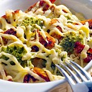 pasta baked with turkey and broccoli