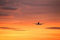 Jet airlpane in flight