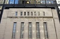 The Toronto Stock Exchange building facade, Toronto, Ontario, Canada