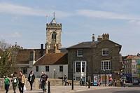 Bridge Street with Sarum St Thomas and St Edmund, Church of St Thomas Beckett, Salisbury, Wiltshire, England, United Kingdom, Europe
