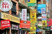 Thamel is the district full of shops where majority tourists stay