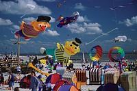 7 International Kite festival, Norderney, East Frisian Islands, East Frisia, Lower Saxony, Germany