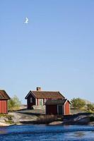 Wooden houses on seaside
