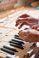 Piano maker, Bavaria, Germany
