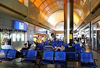 Departure gate, waiting area, duty-free shop, Macedonia International Airport, Thessaloniki, Chalkidiki, Macedonia, Greece, Europe