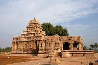 Sangameshvara Temple , Pattadakal , UNESCO World Heritage site, Chalukya , District Bagalkot , Deccan plateau, Karnataka , India
