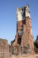 Tower of Church of St. Augustine , UNESCO World Heritage , Old Goa , Velha Goa , India