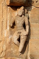 Statue of Dwarpal at Kadasiddeshvara Temple , Pattadakal , UNESCO World Heritage Site , Built In 800 A.D. , Bagalkot , Karnataka , India