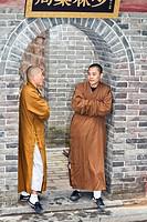 Buddhist monks, Shaolin Temple, birthplace of Kung Fu, Song Shan, near Zhengzhou, Henan Province, Dengfeng, China