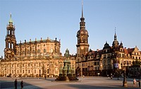 Germany, Saxony, Dresden, Cathedral, Castle,