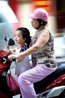 motorbike traffic  Hanoi, Vietnam