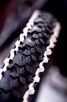 Mountain bike tire, close-up