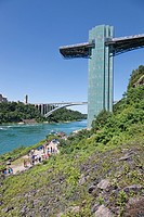 Niagara Falls, Observation Deck, Rainbow Bridge, USA, Canada