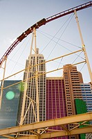 Rollercoaster at New York New York hotel in Las Vegas, Nevada