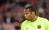 Thierry Henry, FC Barcelona, in a good mood