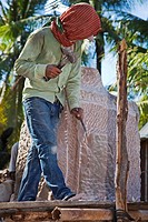 Stone workshop, near Phnom Penh, Cambodia