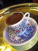 A Cup of strong Turkish Coffee, Pierre Loti Cafe, Eyup, Istanbul, Turkey