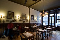 Stylish interior of Cafe Brasilero  Montevideo´s longest operating cafe   Opened 1877  Uruguay, South America