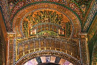 Syria, Damascus, Mosaic detail at the Umayyad Mosque, also known as the Grand Mosque of Damascus Arabic:    , transl  Gam´ Bani ´Umayyah al-Kabir, is ...