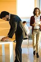 Executives busy at work