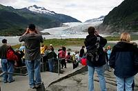 Mendenhall Glacier, glacier field near Juneau, Alaska, USA