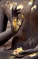 BUDDHA, TEACHING MUDRA, NAKHON PATHOM, THAILAND.