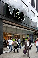 Store of the retail business Marks and Spencer on Oxford Street in London, England, United Kingdom, Europe