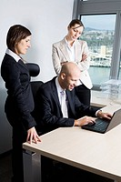 Business team three people