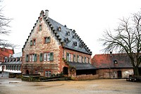 Abbey mill, annex to the monastery, former Benedictine abbey, Seligenstadt, Hesse, Germany, Europe