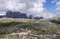 Lavaredo Hut, Alta Pusteria, Sexten Dolomites, South Tyrol, Italy, Europe