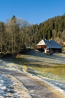 Typical Black Forest House, Hinterzarten, Black Forest, Baden-Wuerttemberg, Germany, Europe