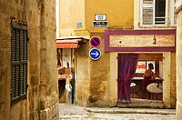 Painted walls in the Old Aix Aix en Provence 13 France