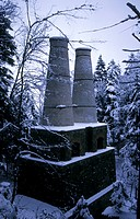 Old Towers of an Industrial Plant, Litzldorf, Upper Bavaria, Germany