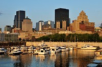 Waterfront of Vieux Port, Harbour of Montreal, Quebec, Canada, North America