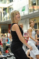 Participant in the Aerobic Convention, SpOrt Stuttgart, Baden-Wuerttemberg, Germany, Europe
