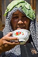 Kyrgyz people in the market, Osh, Kyrgyzstan