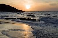Evening mood at Boquita Beach near Playa Caribe on the island of Isla Margarita, Venezuela, South America