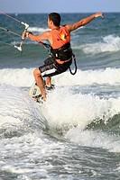 Kite surf Cullera beach Valencia province Spain Europe