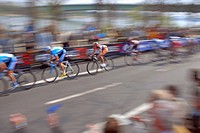 Bike race around Cologne, North Rhine-Westphalia, Germany