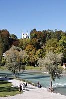 Bad Toelz, Isar river, Upper Bavaria, Germany