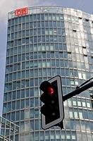 BahnTower, corporate headquarters of the Deutsche Bahn AG, Potsdamer Platz, Berlin, Germany, Europe
