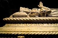 Vasco da Gama grave in Jeronimos Monastery Church, Belem, Lisbon, Portugal