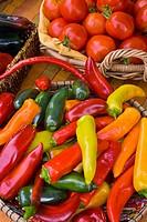 Organic locally grown produce at farmers´ market in Nevada City, California