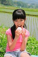 Beautiful Girl Eating Food