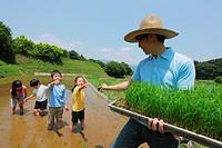Children On a Farm Doing Plantation