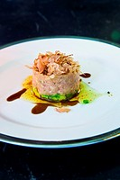 Avocado and tuna tartar The Eugenia hotel  Relais and Chateaux  Bangkok Thailand.