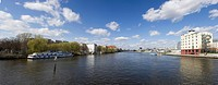 Germany, Berlin, View of city with spree river