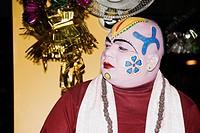 Man with painted face, Rishikesh, Dehradun District, Uttarakhand, India