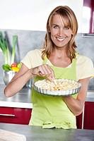 Woman apple pie