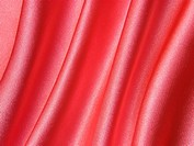 Smooth elegant pink silk fabric as background